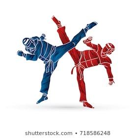 taekwondo-fighting-designed-using-grunge-260nw-718586248